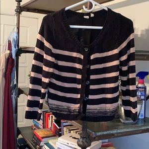 Black and Tan cardigan Anthropologie by Moth XS